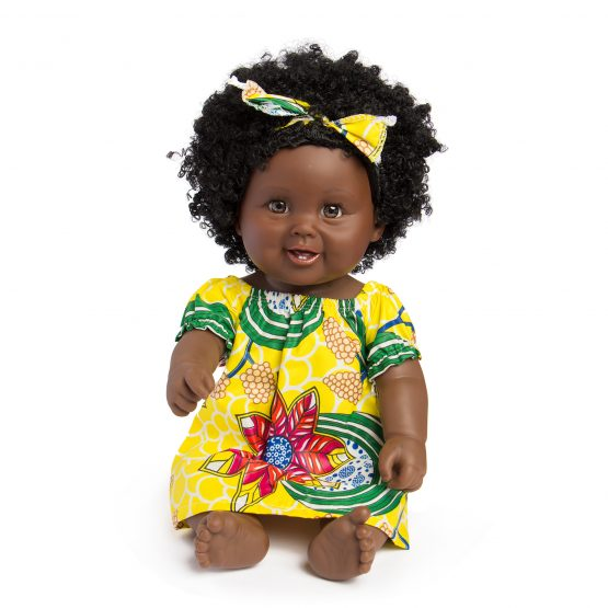 50cm African Black Silicone Baby Girl Doll – Multicolor