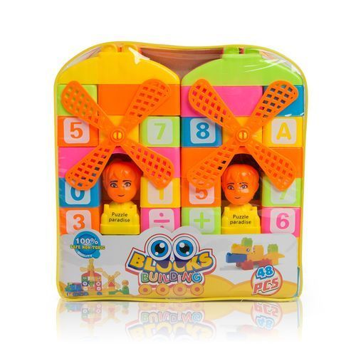 Alphabetical/Numeric Building Blocks Puzzle for Kids – 48PCs