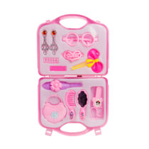 Baby Girl Pretend Hair Grooming Set with Storage Case - Light Purple