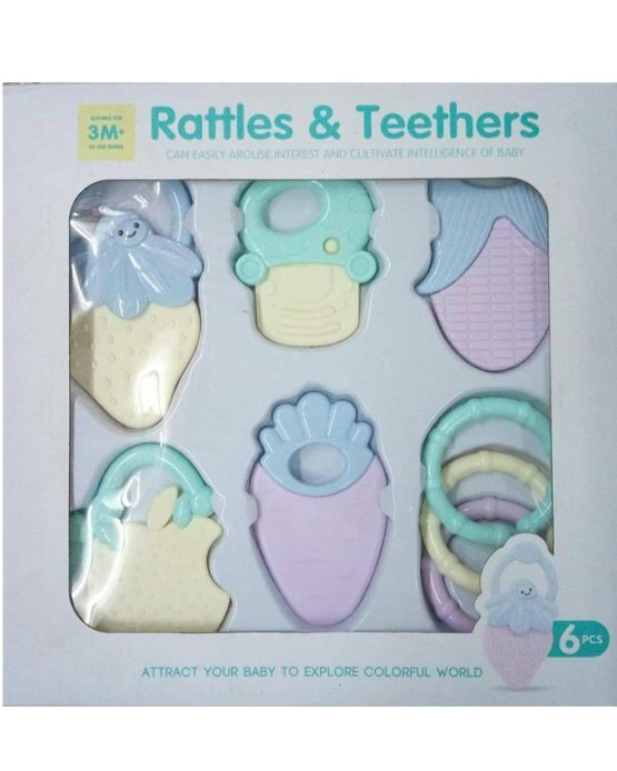 Baby Infant Rattles and Teethers Toy Set – Multicolor