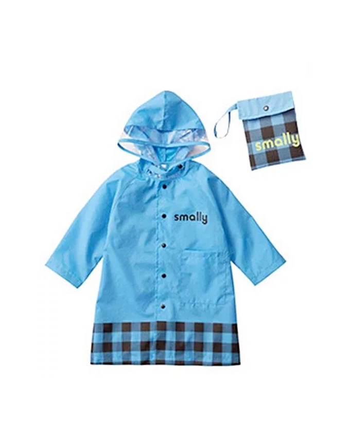 Kids Cartoon Waterproof Children's Raincoat – Blue