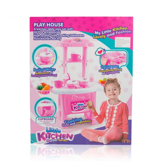 Little Chef Pretend Play Toy Kitchen Set (3+ Ages) – Pink