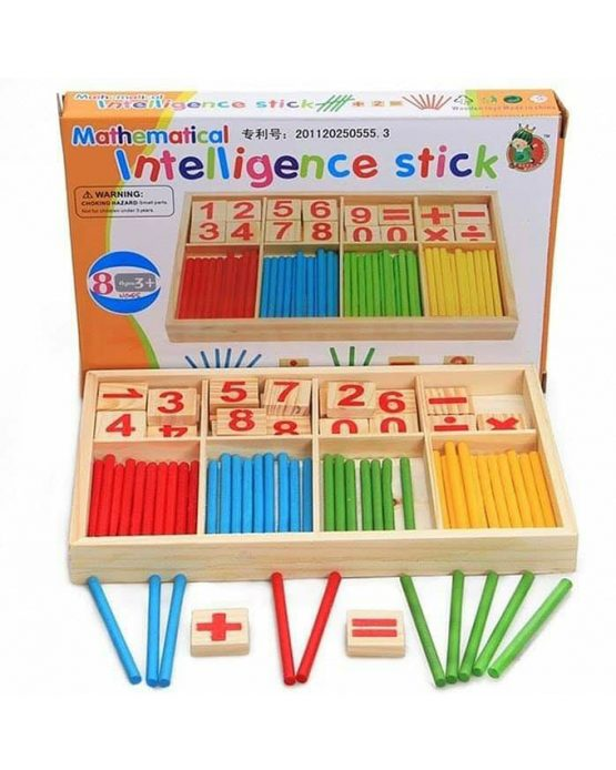 Wooden Mathematical Intelligence Sticks (3 Years +) – Multicolor