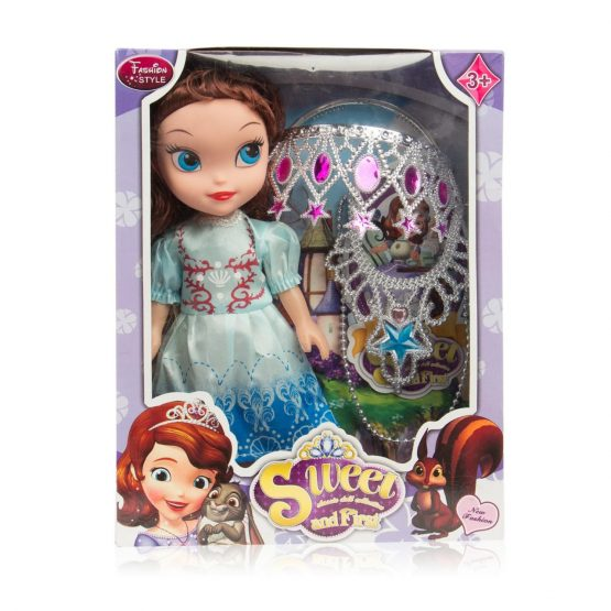Sweet Princess and First Doll Dressed in Multicolor Gown