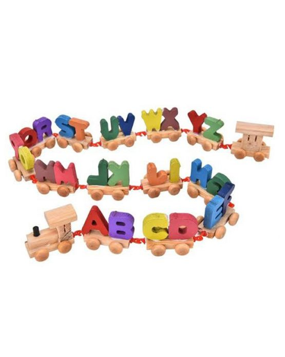 Wooden Alphabet Letter Train Educational Toy for Kids – Multicolor