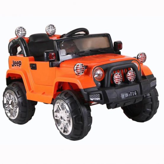 Orange Rechargeable Jeep Electric Truck