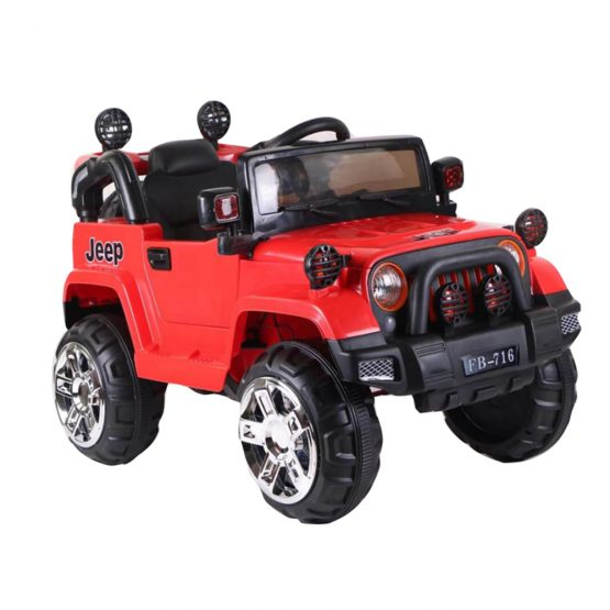 Red Rechargeable Jeep Electric Truck