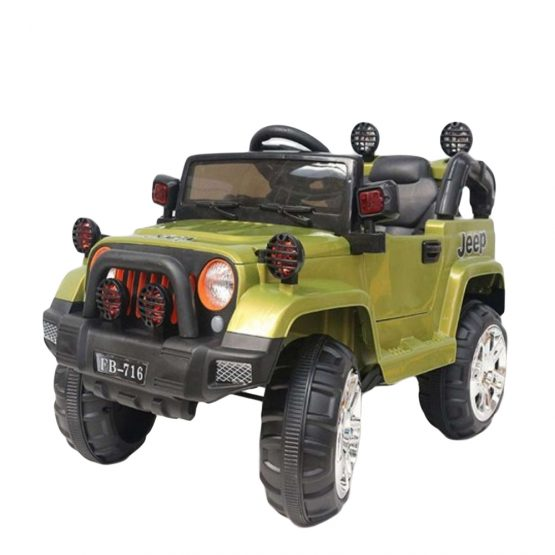Green Rechargeable Jeep Electric Truck