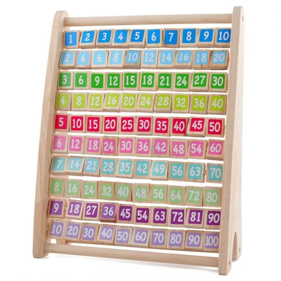 Wooden Multiplication Learning Frame