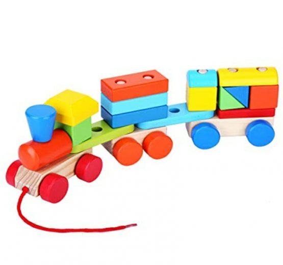 Geometrical Blocks Train