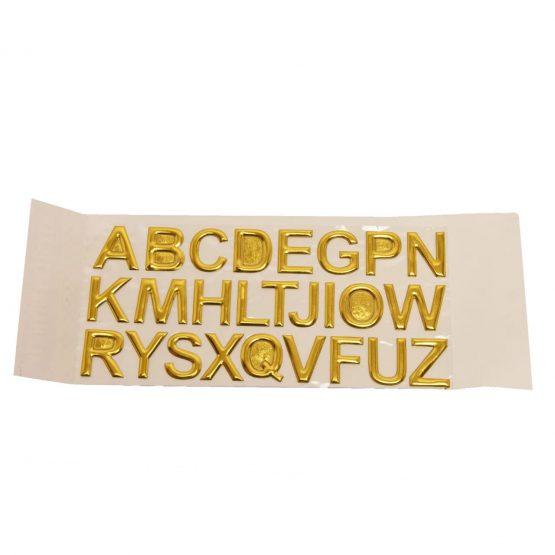 Golden Alphabet Stickers