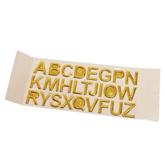 Gold Alphabet Stickers