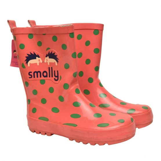 Smally Rubber Kids Gumboots – Red