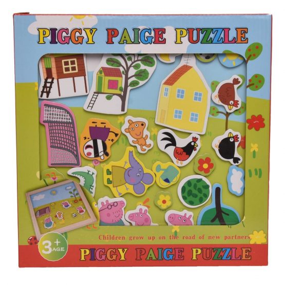 Piggy Paige Puzzle & Blackboard