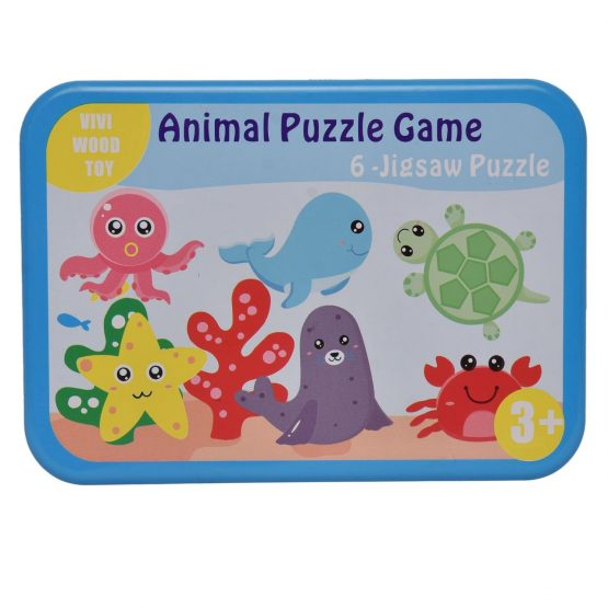 6-Jigsaw Sea Animal Puzzle