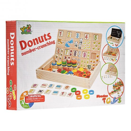 Wooden Donuts Number-crunching