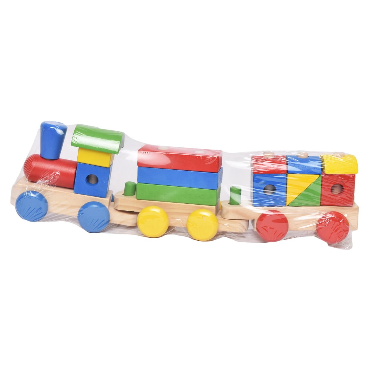 Wooden Shapes Train Toy