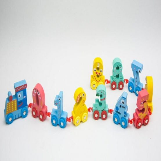 Wooden Digital Train Educational Toy
