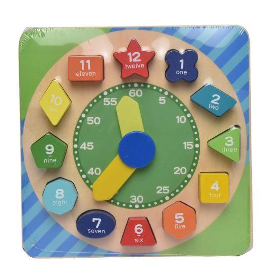 Kids Wooden Digital Blocks Clock