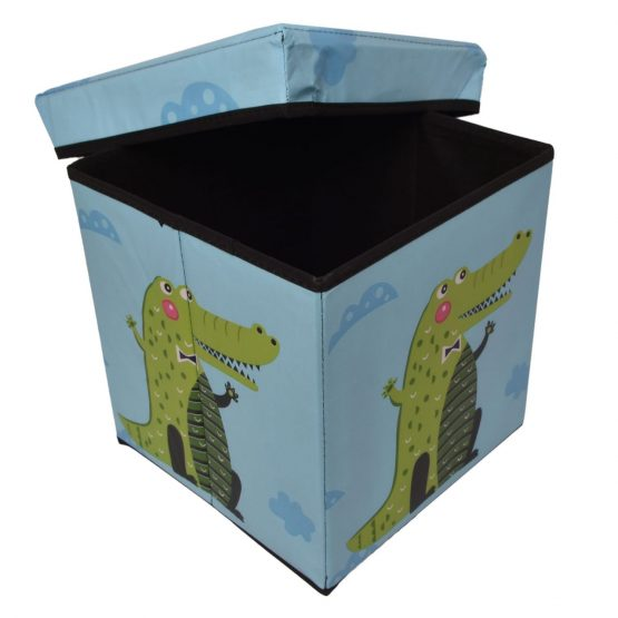 Blue Kids Storage Box and Ottoman