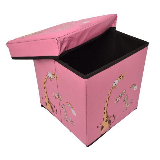 Pink Kids Storage Box and Ottoman