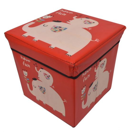 Red Kids Storage Box and Ottoman