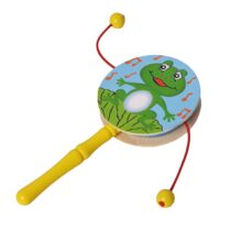 Infant Wooden Rattle Pellet Drum Toy