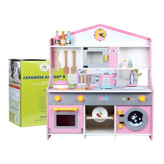 Japanese Style Wooden Pretend Kitchen Toy Set