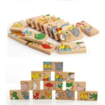 Animal Wooden Domino Blocks
