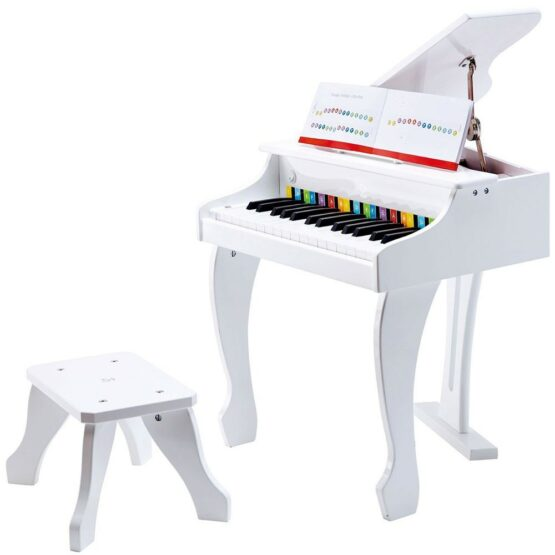 30 Keys Wooden Grand Piano-White