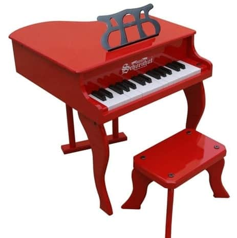 30 Keys Wooden Grand Piano-Red
