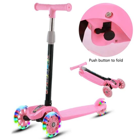 3 Wheel Kids Scooter – Pink