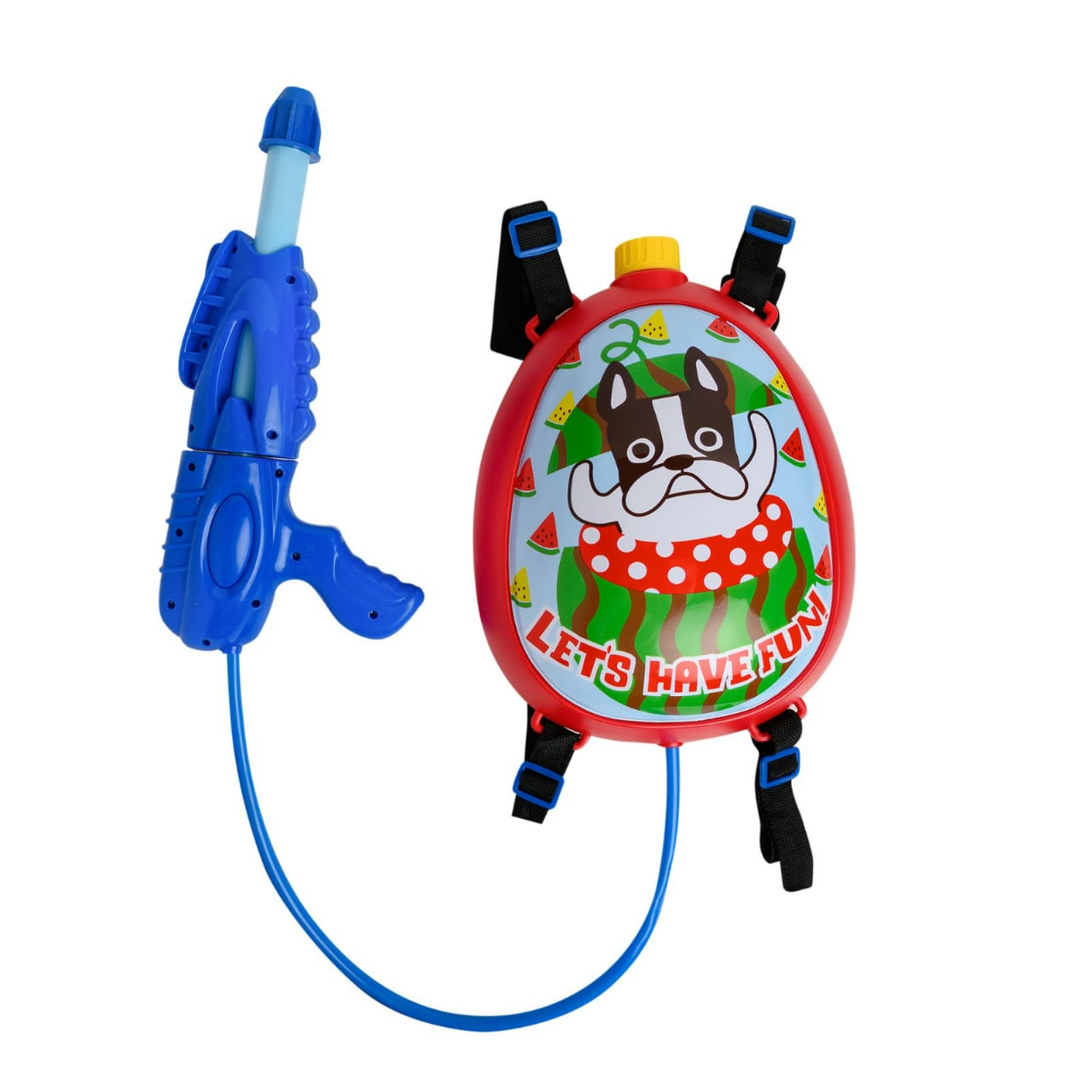 Lets Have Fun Printed Backpack Water Gun for Kids