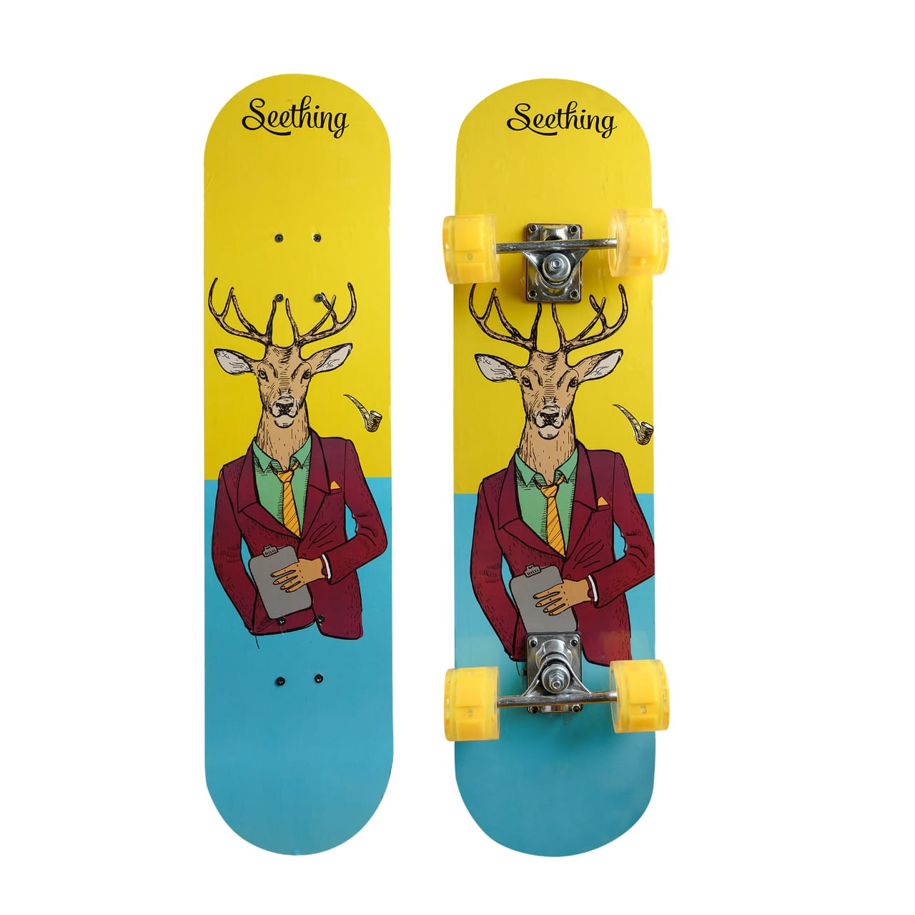 Skate Board For Kids – Blue/Yellow