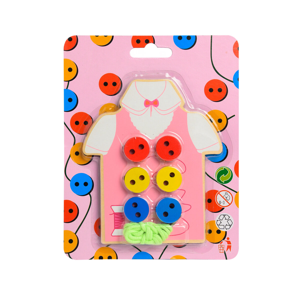 Wear The Button Wooden Toy