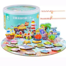 3 in 1 Magnetic Wooden Fishing Toy