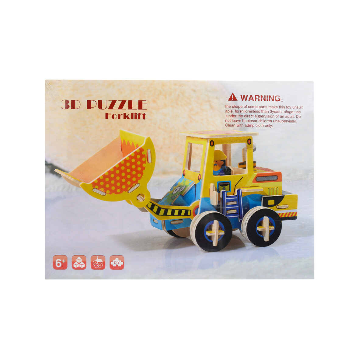 Wooden 3D Puzzle Excavating Machinery