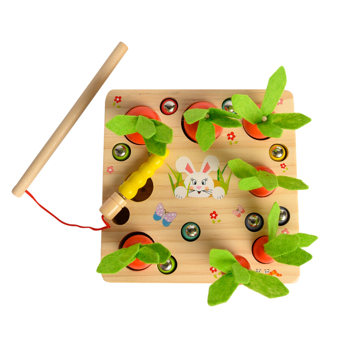Wooden Pull Out Carrots Game