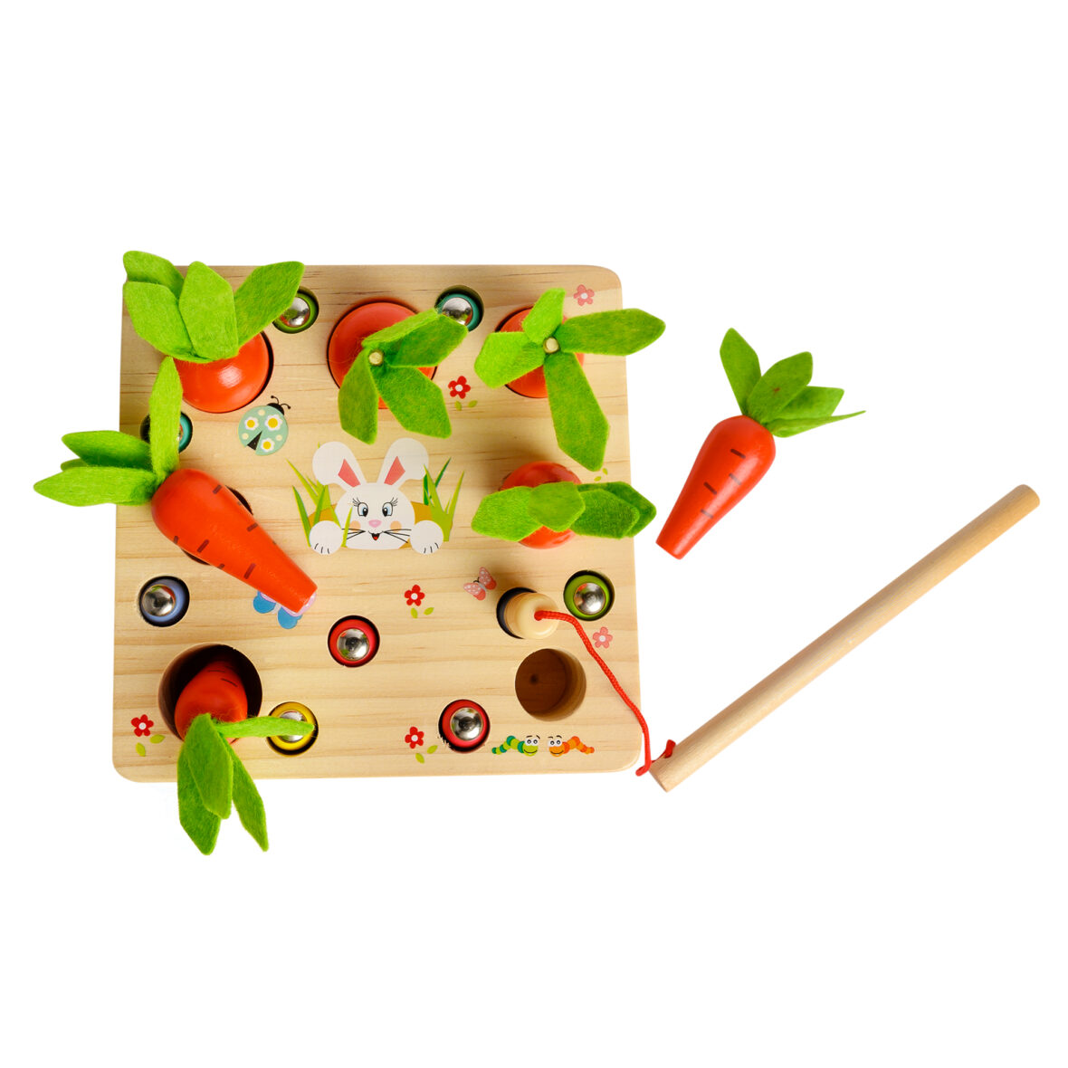 Pull Carrot Catching Insects Worms Game