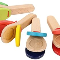 Wooden Castanet Clapper Educational Toy