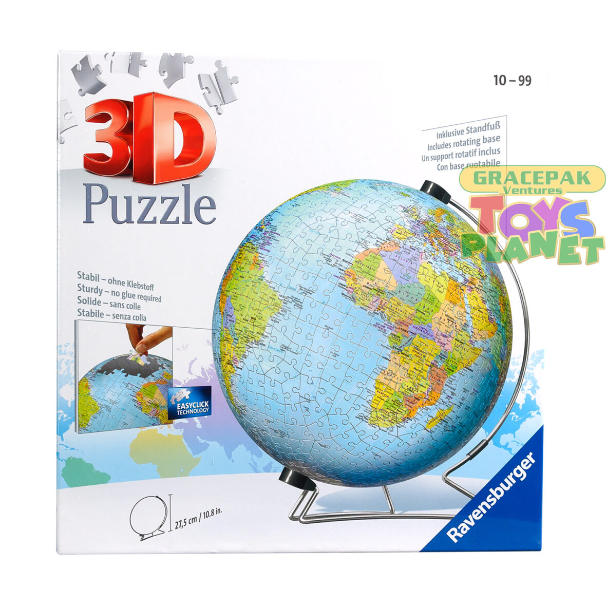 Ravensburger The Earth 3D Jigsaw Puzzle – 540 Piece