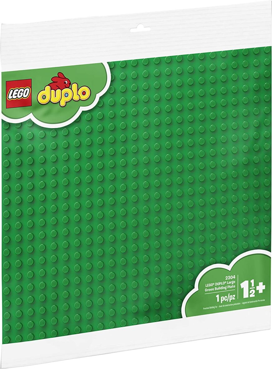 My First LEGO DUPLO Large Green Building Plate  – 1.5 Years- 1 Pc